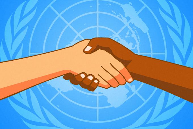 Comemorações do Dia da Declaração dos Direitos Humanos.